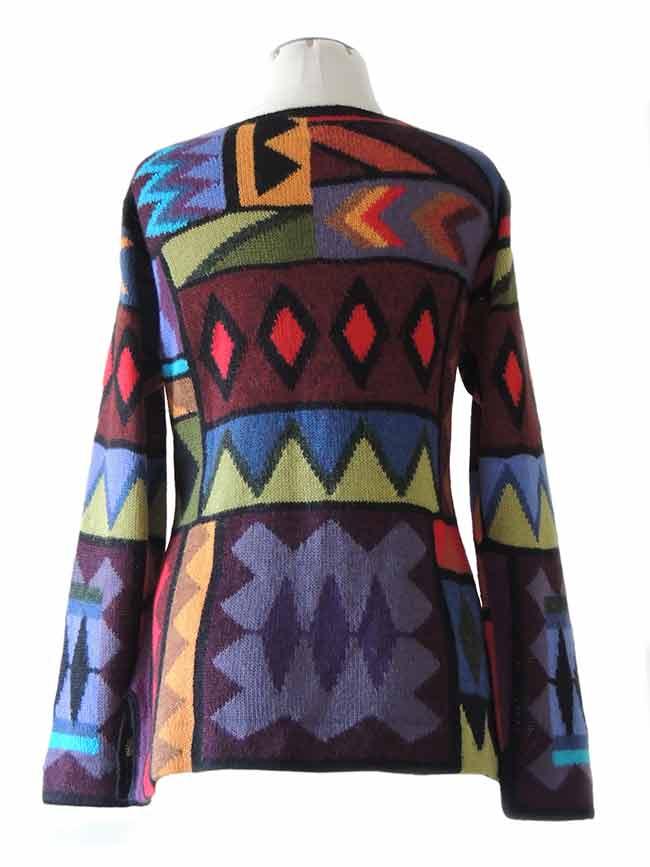 PFL knitwear Vest intarsia alpaca multi kleuren