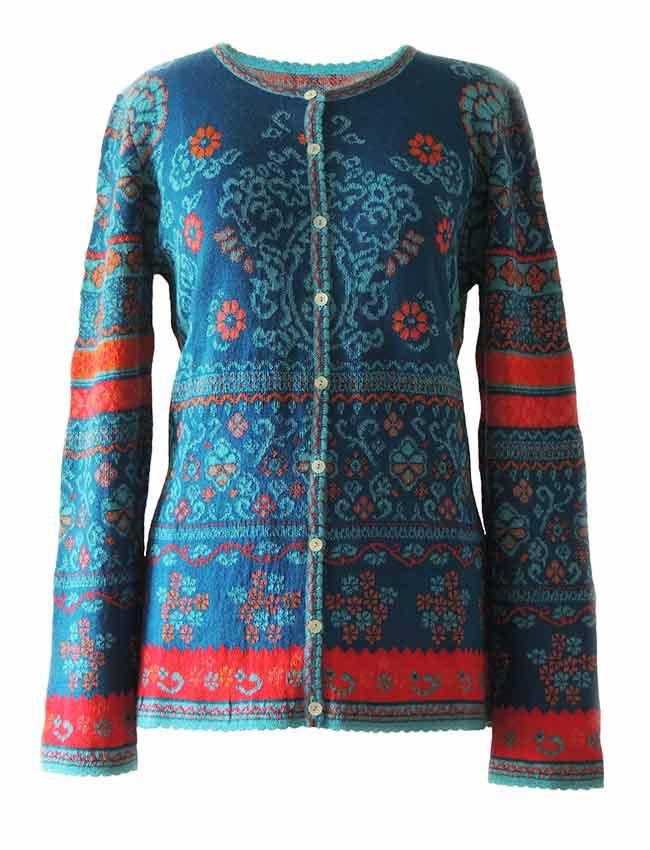 PFL knitwear Vest Lucy blauw, baby alpaca