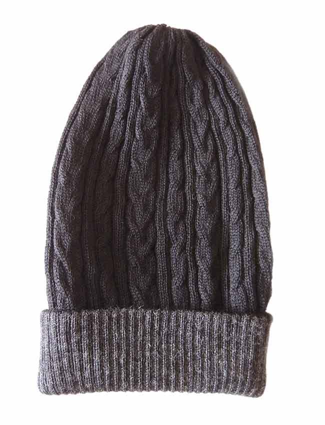 PFL knitwear Muts omkeerbaar zwart grijs