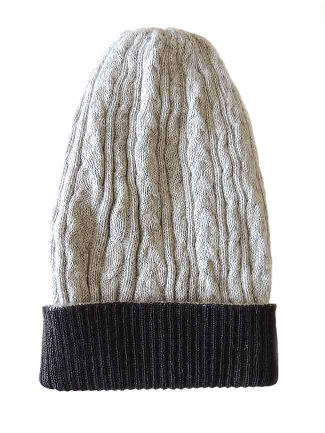 2b1805a6f58 Muts omkeerbaar grijs zwart | PopsPlaza Nederland