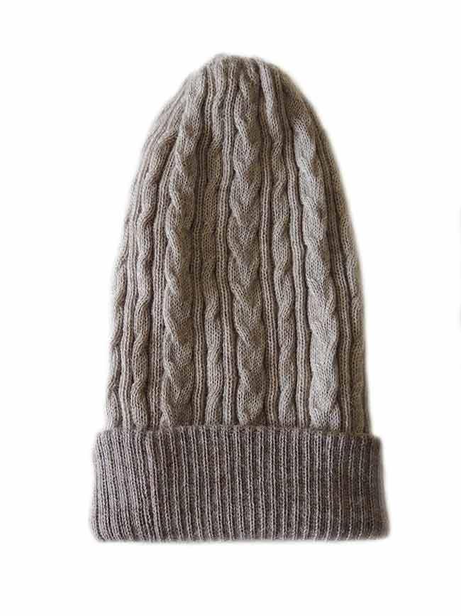 PFL knitwear Muts omkeerbaar beige taupe