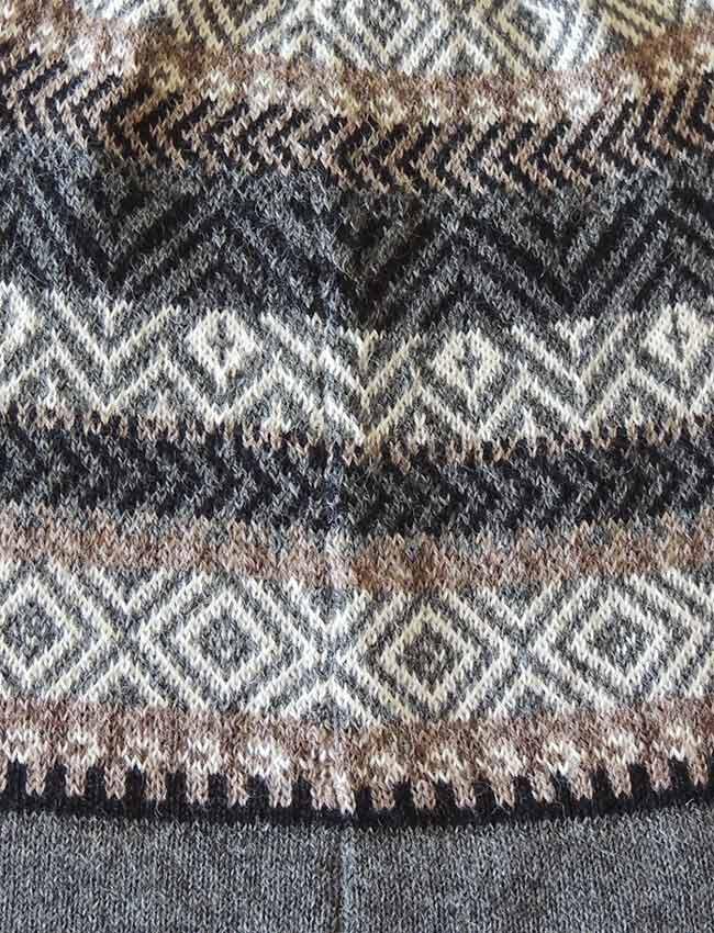 PFL knitwear Muts graphic streep design baby alpaca