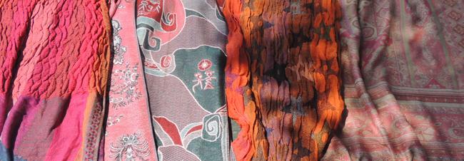 Handgeweven pashmina sjaals met kleurige dessins