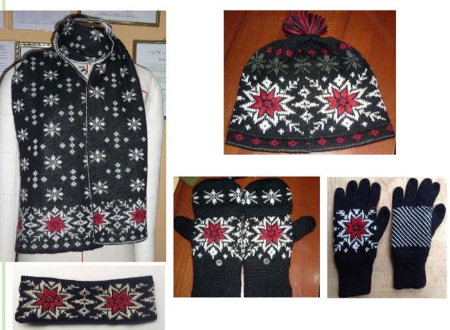 Breigoederen: accessoires 2014-2015, handschoenen, mutsen, sjaals
