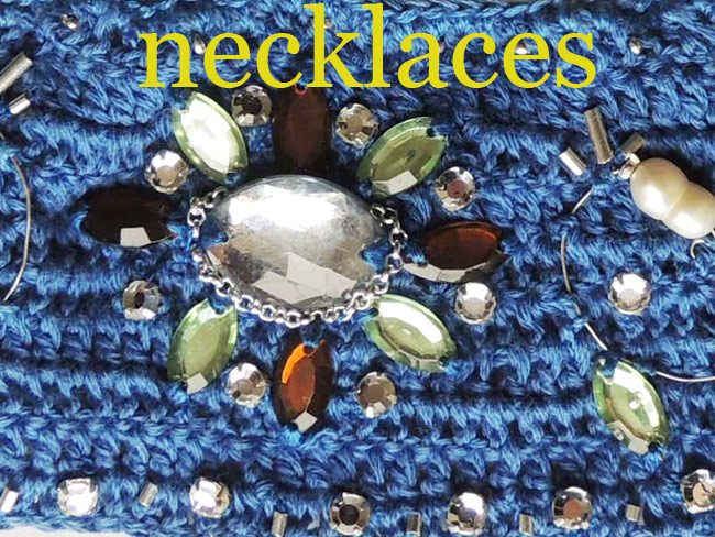 Peruvian necklaces in different designs and materials.
