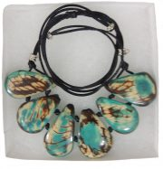 necklace, Taqua turquoise-white