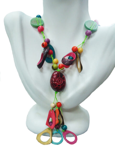 Necklace fantasia in Taqua multicolor