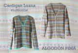 PFL premium cárdigans clásico, multi color en algodón pima
