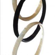 PFL bracelet four rings of polished bull horn