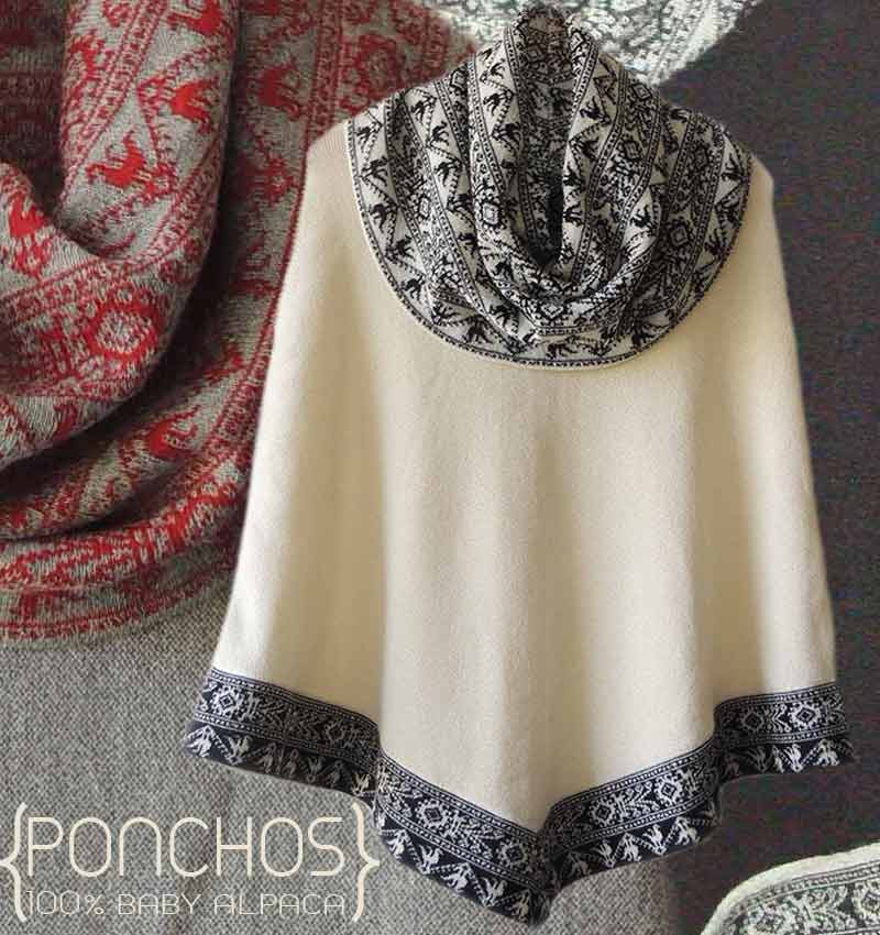 PFL Premium poncho Fiona made in 100% luxery baby alpaca