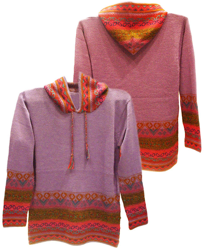 Colored hooded sweaters P43 Muru.
