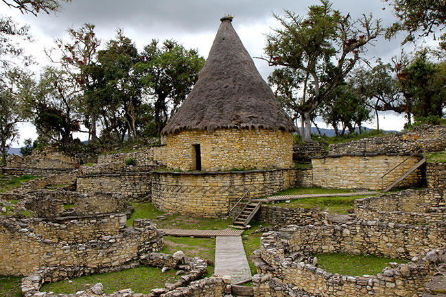 The ruins of Kuelap in Chachapoyas, Peru