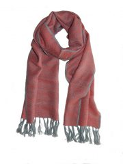 PFL premium, pink- grey luxury ultra soft scarf in 100% baby alpaca.