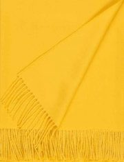 Throw 100% baby alpaca, woven solid color design with fringes.