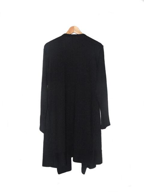 Long cardigan black in alpaca Fine Loose knit cardigan in a soft alpaca wool with rib cuffs