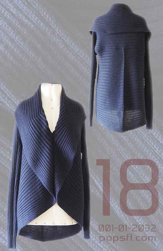 PFL, losvallend vest model KEYLA in Alpaca blend leverbaar in diverse kleuren.