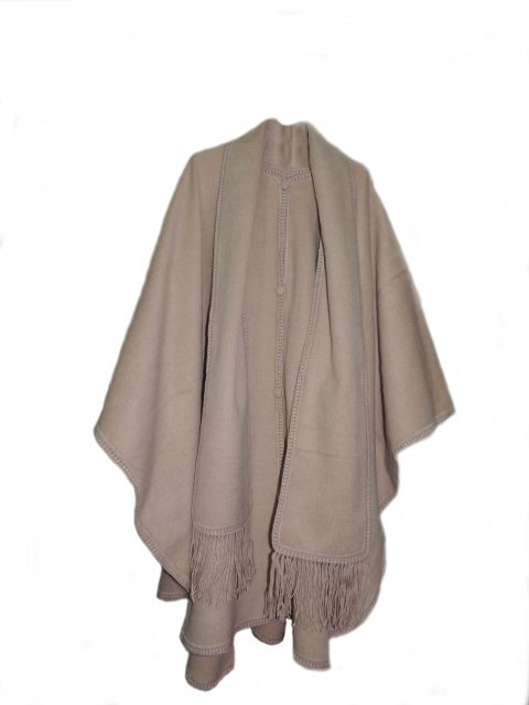 Classic cape/ poncho with shawl in alpaca.