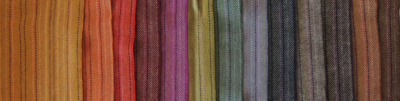 Kleurige gestreepte plaids in alpaca blend.
