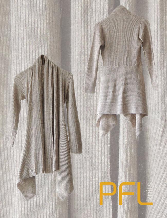 PFL knits cardigan shawl collar 001-01-2040-02