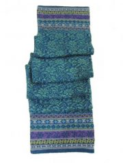 PFL knitwear Double knitted scarf Susan with jacquard flower pattern