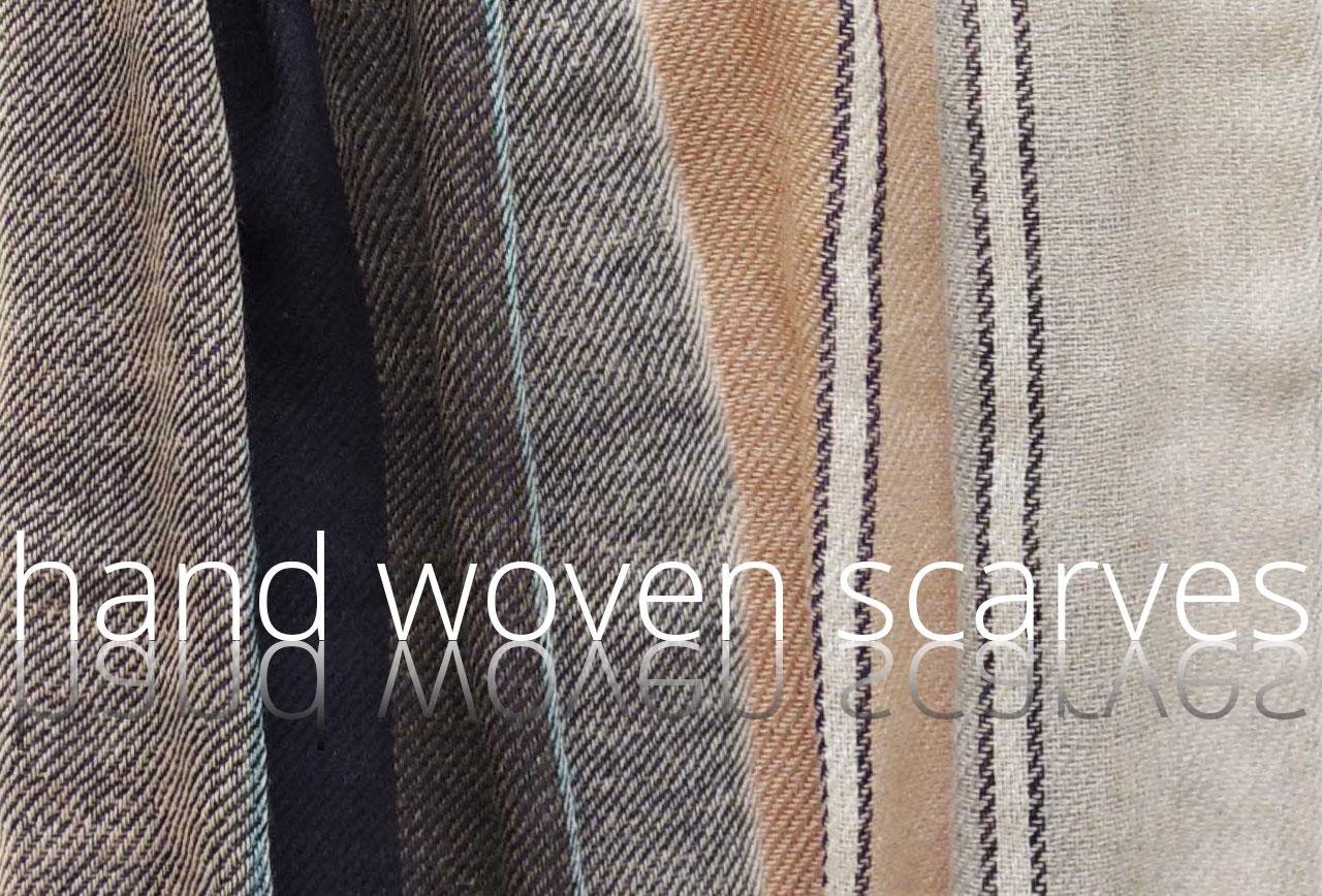 PFL Knitwear wholesale hand woven scarves baby alpaca -alpaca hand loomed