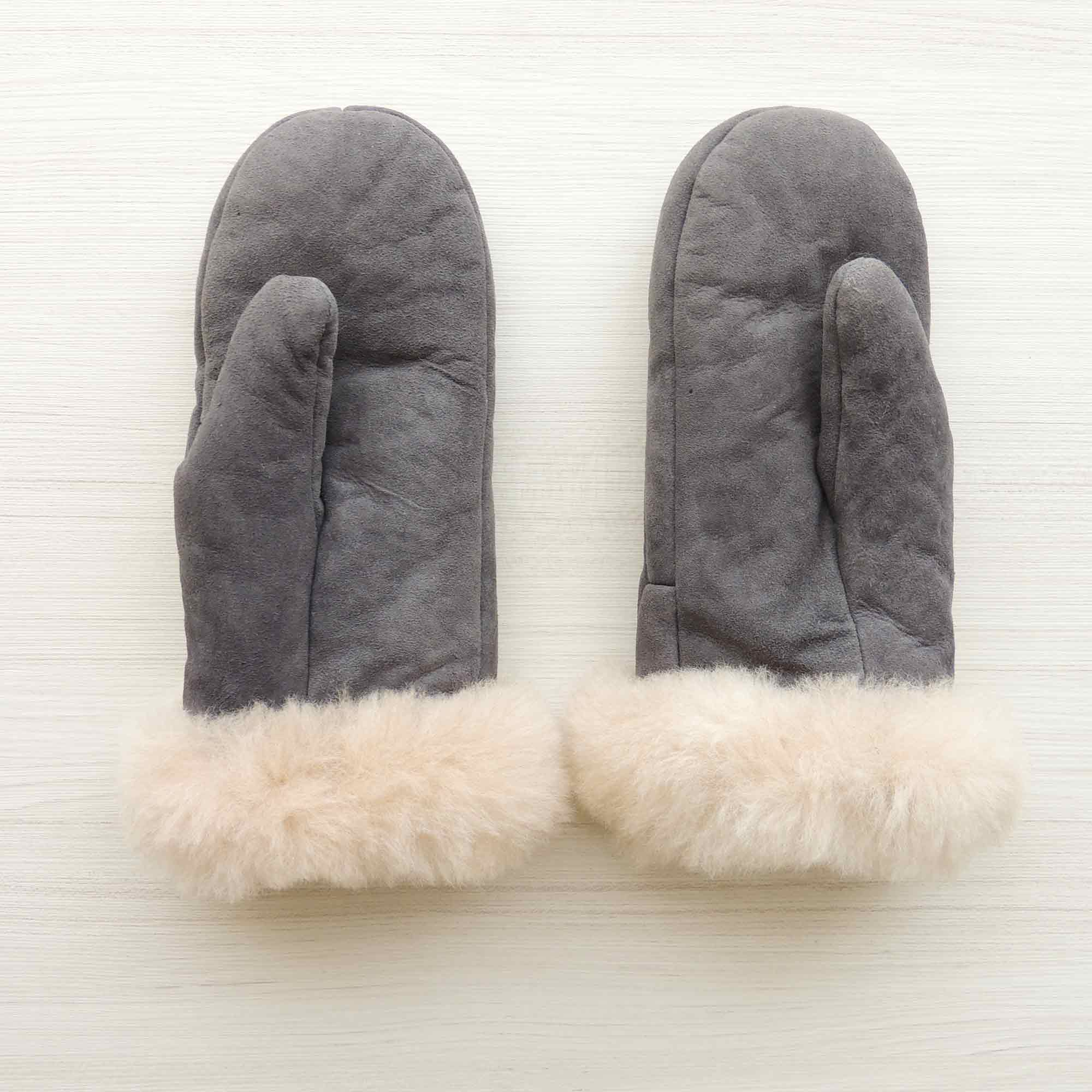 POPSFL wholesale Mittens handmade of 100% natural Sheepskin and fur with luxary 100% soft baby alpaca cuffs