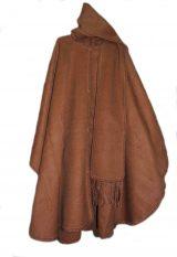 JKlassieke poncho uitgevoerd met sjaal in 100% Alpaca