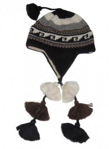 001-31-2012 Peruaanse chullo muts in 100% baby alpaca