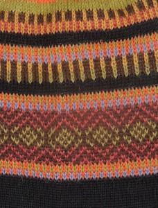 001-31-20015 / 001-31-20017 bont gekleurde mutsen met strepen 50% alpaca - 50% acryl