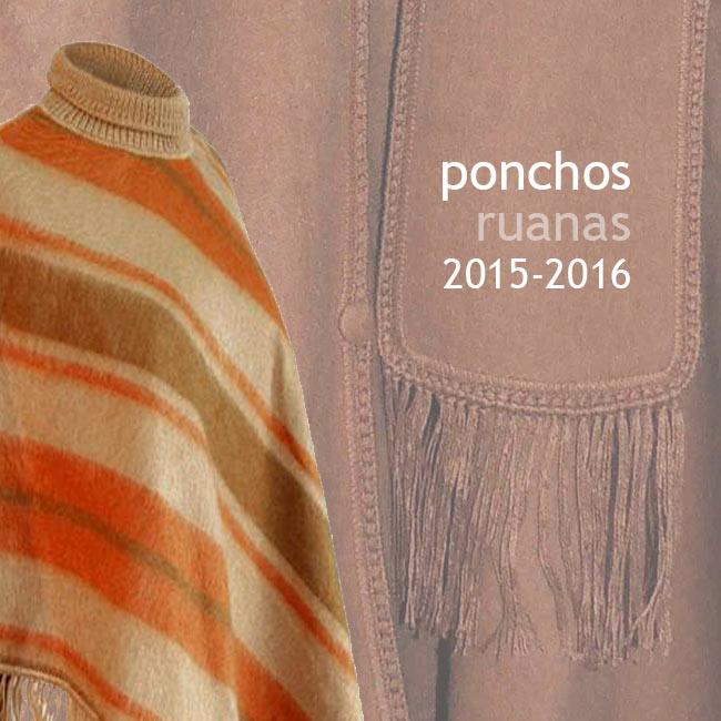 Collectie 2015 - 2016: ponchos en omslagdoeken