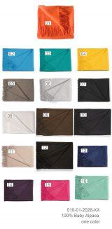 010-01-2026 Plaids effen in één kleur met franjes.