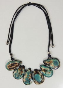 necklace, Taqua turquoise-white