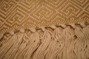throw 010-90-1043 alpaca-cotton blend