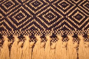 throw 010-90-1108 alpaca-cotton blend