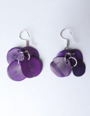 Earrings purple in Taqua