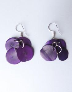 Earrings purple in Taqua