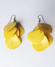 Earrings yellow in Taqua