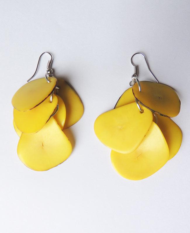 Earrings yellow in Taqua