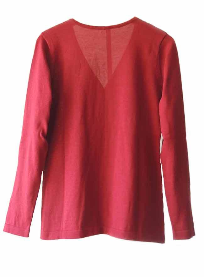 PFL Premium cardigan Luana classic, red