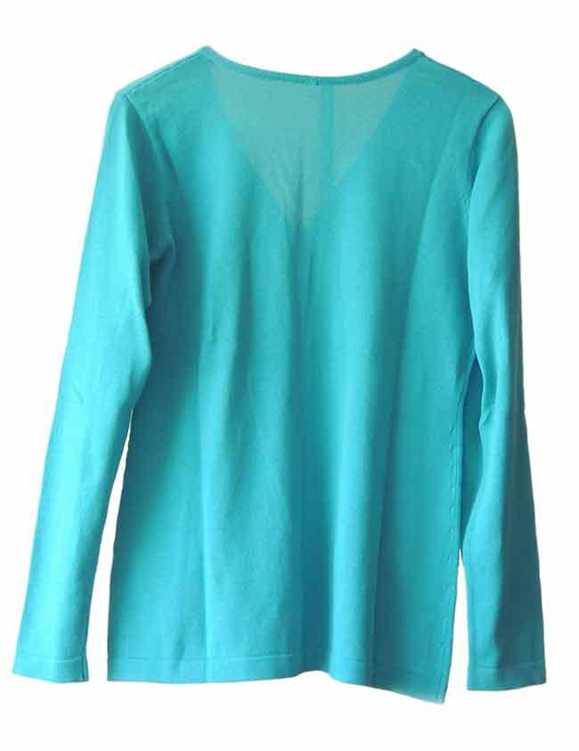PFL Premium cardigan Luana classic, turquoise