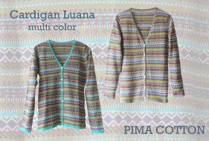 Womenswear, PFL premium cardigans Luana multicolor manufactured in 100% pima cotton