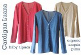 Womenswear, PFL premium cardigans Luana classic model with mother of pearl buttons