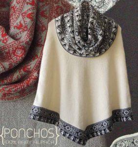 PFL Premium poncho Fiona made in 100% luxery baby alpaca