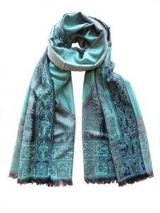Dames sjaals in een blend van alpaca, katoen en zijde.
