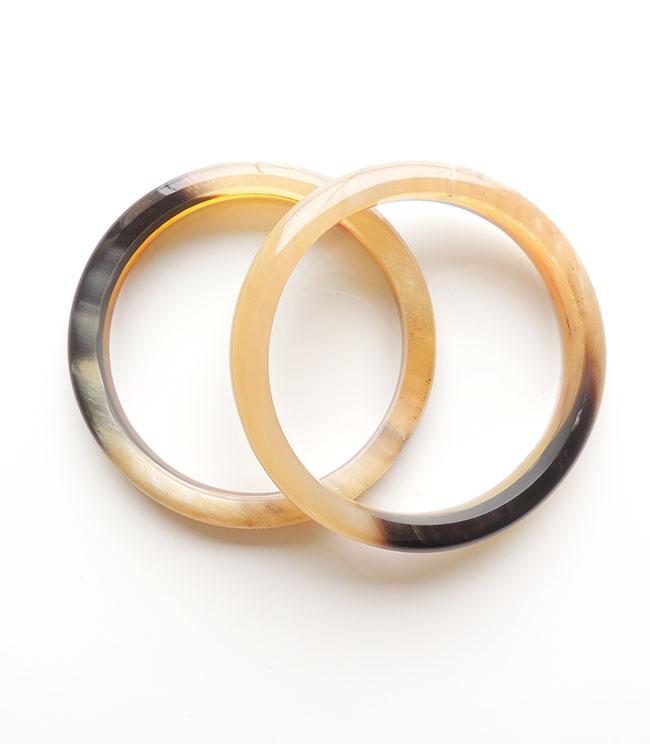 PFL bracelet two rings of polished bull horn