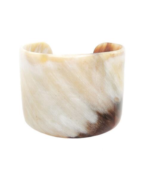 PFL wide bracelet polished bulls horn.