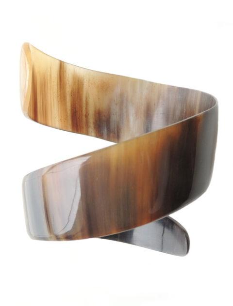 PFL bracelet spiral of polished bull horn.
