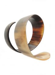 PFL bracelet spiral of polished bull horn.