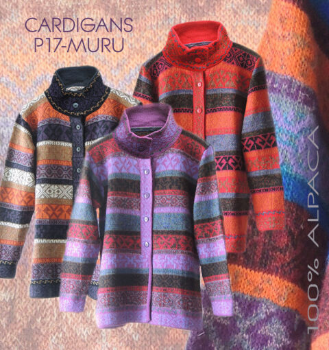 PopsFL wholesale women cardigans multicolor 100% Alpaca wool