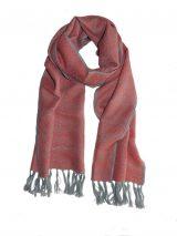 PFL premium, pink- grey luxury ultra soft scarf in 100% baby alpaca.